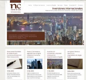 Nueva web Navas Cusí Internacional