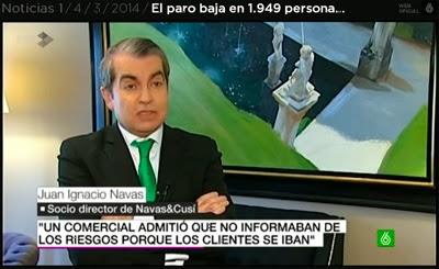 Afectados por preferentes Bankia: Juan Ignacio Navas en La Sexta