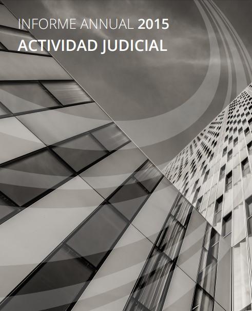 actividad judicial informe anual 2015