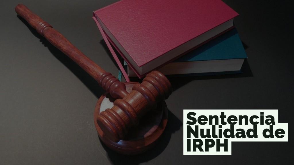 Sentencia de nulidad del ndice irph la primera en for Comprobar clausula suelo