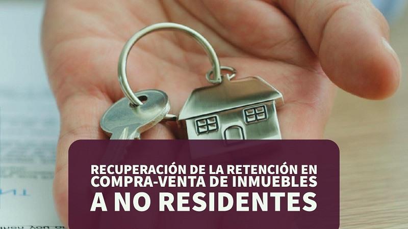 Recuperación de la retención en compra-venta de inmuebles a no residentes