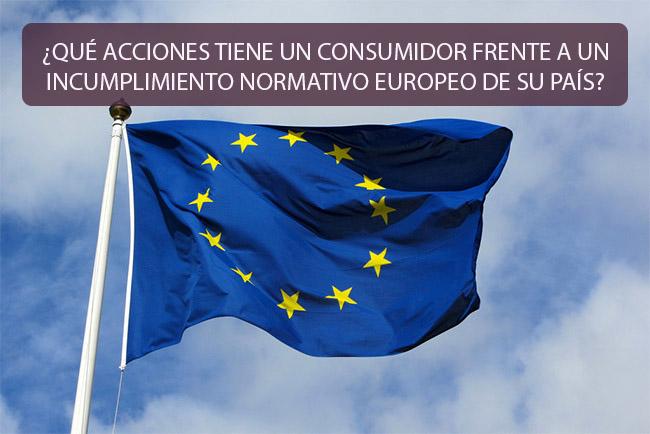 ¿Qué acciones tiene un consumidor frente a un incumplimiento normativo europeo de su país?