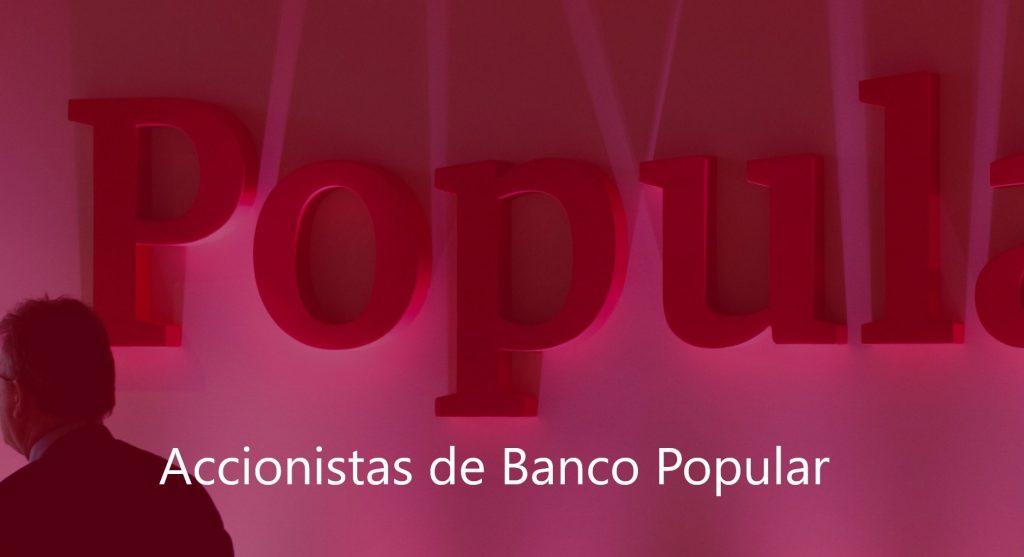 Accionistas de Banco Popular