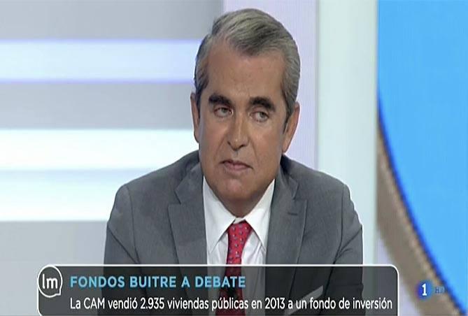 Juan-Ignacio-Navas-en-el-debate-de-La-mañana-de-TVE-sobre-fondos-buitre-Navas-&-Cusí-Abogados-expertos-en-Derecho-Bancario-en-Madrid